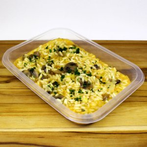 Risoto de cogumelo com alho-poró (vegano)
