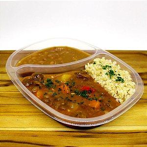 Carne de panela de soja (vegano)