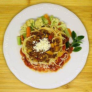Espaguete ao molho bolonhesa (vegano)
