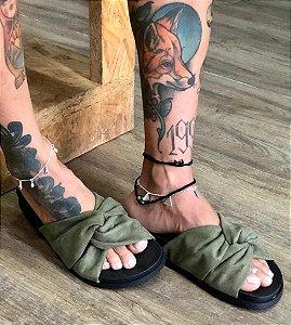 Rasteira Bali Verde Militar