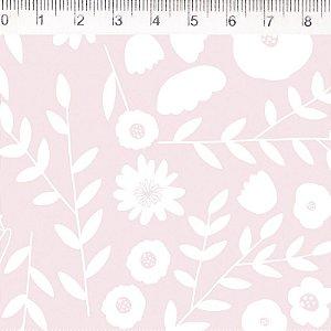 Tecido Floral Rosa ES034C01