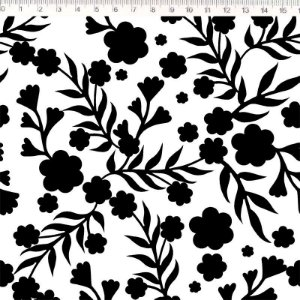 Floral Preto e Branco (30692C01)