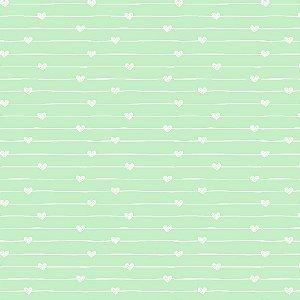 Tecido Varal de Corações Azul 14011 50x150