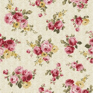 Tecido Floral Arabesque Creme 9902 50x150