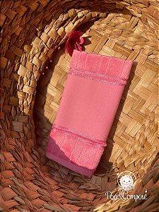 Toalha de Lavabo Dohler Rosa Escuro (Faixa Pinte e Borde)
