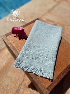 Toalha de Mão com Franja Azul (Faixa para Bordar)