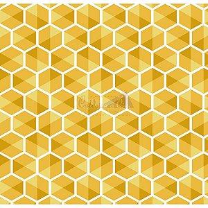 Tecido Colmeia Amarelo (Cor 04)