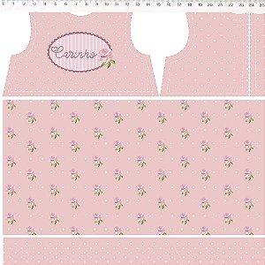 Coração de Pano Projeto Vestido Rosa CP001C02