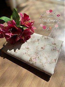 Linho floral com fundo cru 50x140 (00176C06)