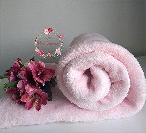 Microfibra cor Rosa Bebê (100 cm x 120 cm)