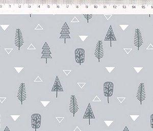 Tecido Árvores cinza ES025C02