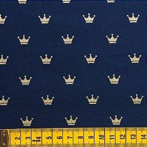 Tecido Coroa Marinho TU001C03