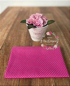 Tecido Poá pequeno pink com branco (11)
