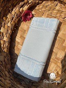 Toalha de Rosto Dohler Azul Bebê (Faixa Pinte e Borde)