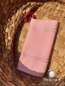 Toalha de Lavabo Dohler Rosa Bebê (Faixa Pinte e Borde)