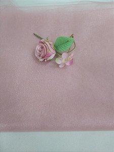 Tule Francês cor Rosê (50x120)
