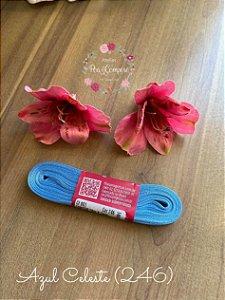 Fita de Cetim 7 mm Azul Celeste (246)