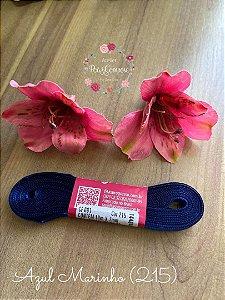 Fita de Cetim 7 mm Azul Marinho (215)