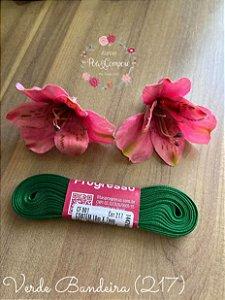 Fita de Cetim 7 mm Verde Bandeira (217)