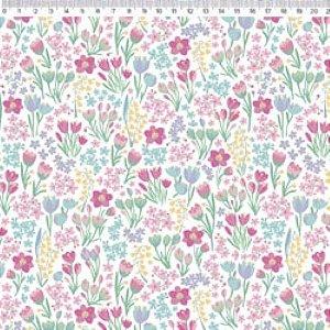 Tecido Jardim Flores Coloridas VG063C01