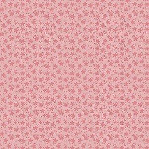 Tecido Básico Floral Rosa RT342