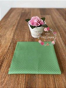 Tecido Poá pequeno verde Jade com branco (Cor 30)