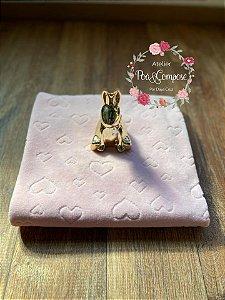 Plush Texturizado Coração cor Rosa 50x80