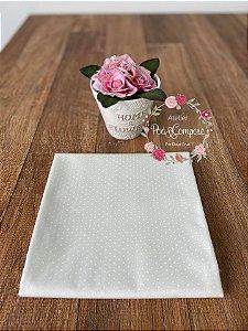 Tecido Poá cor Marfim com Branco (50025C65)