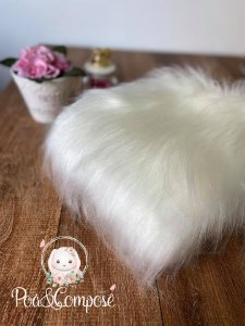 Pelúcia Pelo Alto cor Branco Off (50 cm x 80 cm)