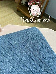 Malha Matelassê cor Azul Jeans (Corte 80x80)
