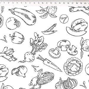 Coleção Vegan Life - Legumes fundo branco 30667C01