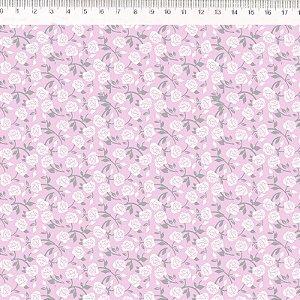 Tecido Floral Calico Rosa 30606C03