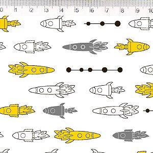 Foguetes cinza e amarelo - ES003C01