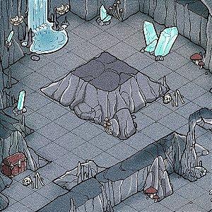 Mapa de RPG Isométrico - Caverna dos Cogumelos