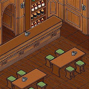 Mapa de RPG Isométrico - Taverna ou Biblioteca