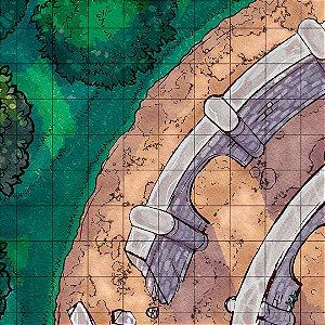 Mapa de RPG - Ruína Circular