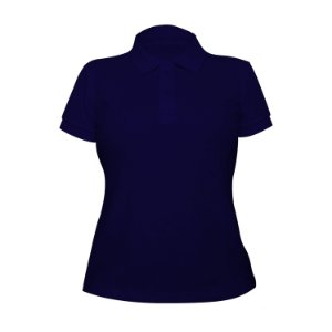 Kit 10 peças - Camiseta Polo Piquet Royal Feminina