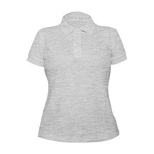 Kit 10 peças - Camiseta Polo Piquet Mescla Feminina