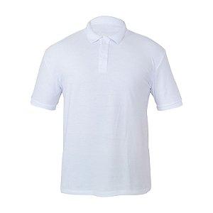 Kit 10 peças - Camiseta Polo Piquet Branca Masculina