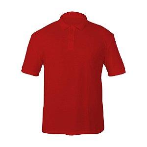 Kit 10 peças - Camiseta Polo Piquet Vermelha Masculina