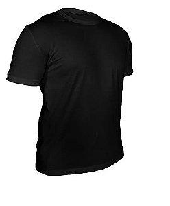 Kit 10 peças - Camiseta Algodão Preta Masculina