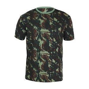 Kit 10 peças - Camiseta PV (malha fria) Camuflada Verde Masculina