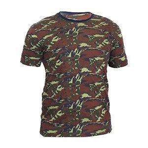 Kit 10 peças - Camiseta PV (malha fria) Camuflada Verde/Azul Masculina