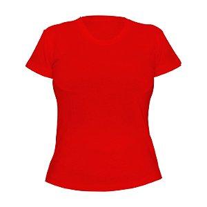Kit 10 peças - Camiseta PV (Malha Fria) Vermelha Feminina