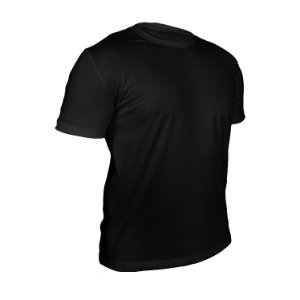 Kit 10 peças - Camiseta Poliéster Anti Pilling Preta Masculina