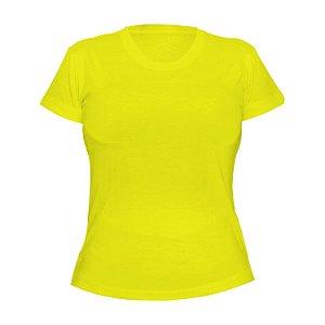 Kit 10 peças - Camiseta Poliéster Anti Pilling Canário Feminina