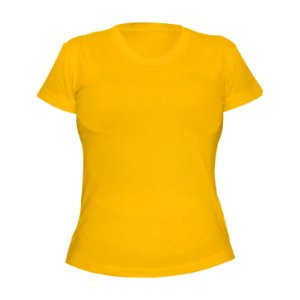 Kit 10 peças - Camiseta Poliéster Anti Pilling Ouro Feminina