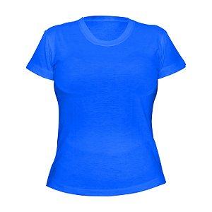 Kit 10 peças - Camiseta Poliéster Anti Pilling Turquesa Feminina