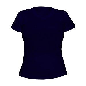 Kit 10 peças - Camiseta Poliéster Anti Pilling Marinho Feminina
