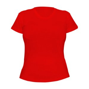Kit 10 peças - Camiseta Poliéster Anti Pilling Vermelha Feminina